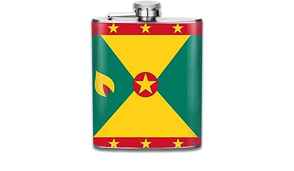 Petaca para licor, diseño de la bandera de Granada, de acero ...