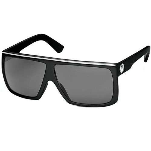 Dragon Sunglasses Fame Large Fit Eyewear - Dragon Alliance Men's Outdoor Shades - Jet/Grey / One Size Fits - Shades Dragon