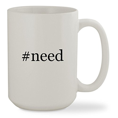 Price comparison product image #need - 15oz Hashtag White Sturdy Ceramic Coffee Cup Mug