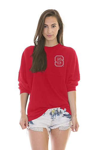 Nc State Football - NCAA NC State Wolfpack Women's Jade Long Sleeve Football Jersey, Red, Large