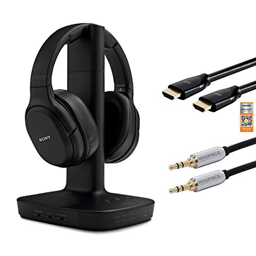 Sony L600 Wireless Digital Surround Overhead Headphones (WH-L600) Bundle