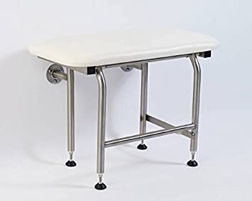 Superior 26u0026quot; Wall Mounted Folding Shower Seat With Legs, Rectangular   ADA  Compliant