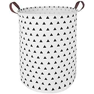 Large Waterproof Storage Bin Lightweight Organizer Basket for Laundry Hamper,Toy Bins,Gift Baskets,Dirty Clothes, College Dorms, Kids Bedroom,Bathroom (Small Black Triangle)