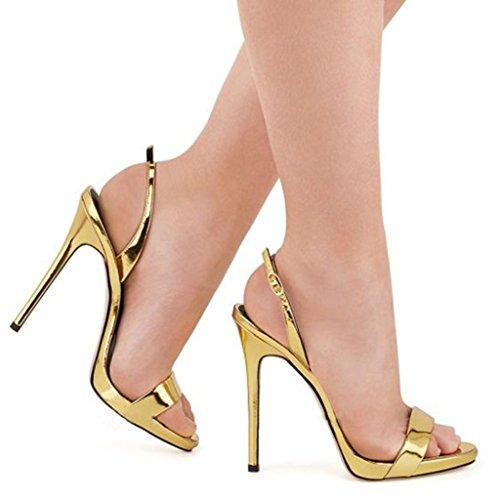 20df1d1c095854 ... Sandales À Talons Confortables Pour Les Femmes, Chaussures Sexy  Slingback Boucles Spikes Talons Seule Bande