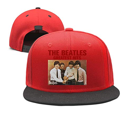 Mens Womens Red Flat The-Beatles-Beatles'-Funny-Greatest- Dad Cap
