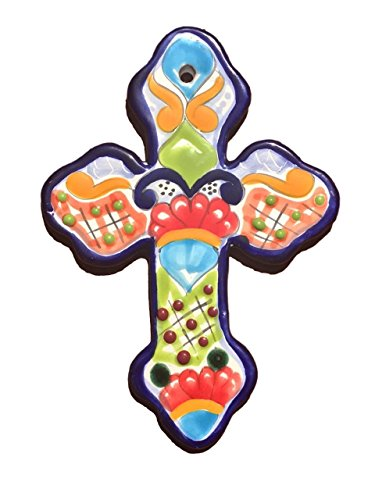 Mexican Talavera Wall Cross 8