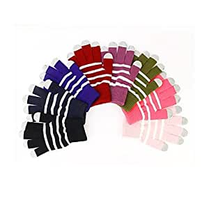 Darker Touch Screen Woolen Gloves --- COLOR:4