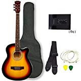 Kadence Frontier Series Semi Acoustic Guitar, Sunburst, Combo (Bag, 1 Pack Strings, Strap And Picks)