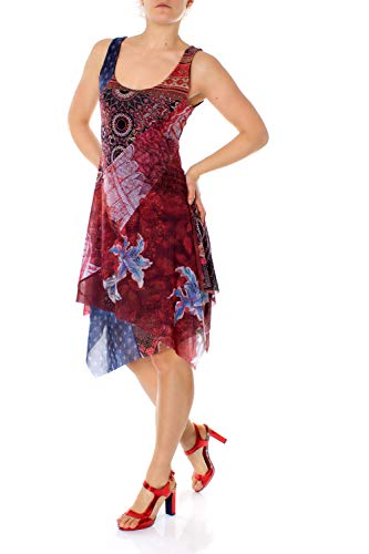 Vestito Sleeveless Pequot Woman Bordeaux Donna Dress Red Desigual CB4SwXnxgq