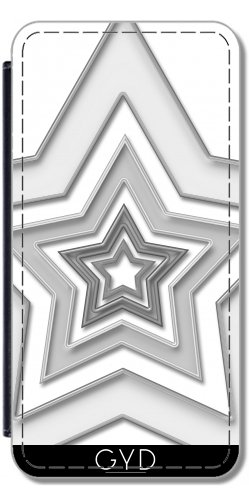 Leder Flip Case Tasche Hülle für Apple Iphone 7 Plus / 8 Plus - Stern 2 Cb by Digital-Art
