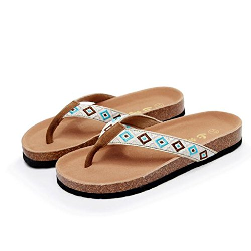 Sandals Cork EVA Sole Clip Toe Slippers Female Summer Fashion Flat Shoes 2