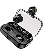 U-ROK Wireless Earphones Bluetooth 5.0 Earbuds with 4000mAh Charging Case LED Digital Display Touch Control 90H Playtime in-Ear Bluetooth Headphones IPX7 Waterproof Headset Built-in Microphone True wireless earbuds for Sports, Gym and Running