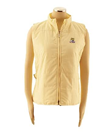 NCAA Women's Louisiana State Fightin Tigers Ladies Quilted Vest (Fashion Gold, Small)