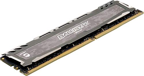 Crucial Ballistix Sport LT 3000 MHz DDR4 DRAM Desktop Gaming Memory Single 8GB CL16 BLS8G4D30BESBK (Gray)