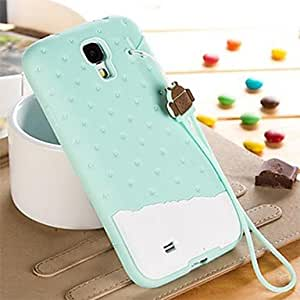 JAJAY-ships in 48 hours Colorful 3D Soft Silicone Chocolate Ice Cream Case for Samsung Galaxy S4 i9500 (Assorted Colors) , White