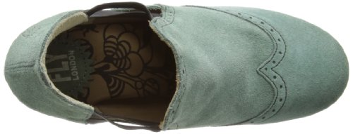 Fly London Womens Alix Boot Verde Petrolio Scamosciato