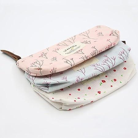 563a5a7084 little finger Floral Canvas Pencil Pen Case Cosmetic Makeup Tool Bag  Storage Pouch Purse pencil case bulk cheap Pink  Amazon.co.uk  Kitchen    Home