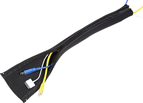 4 x cable management sleeve highest quality neoprene cord management system for tv computer. Black Bedroom Furniture Sets. Home Design Ideas