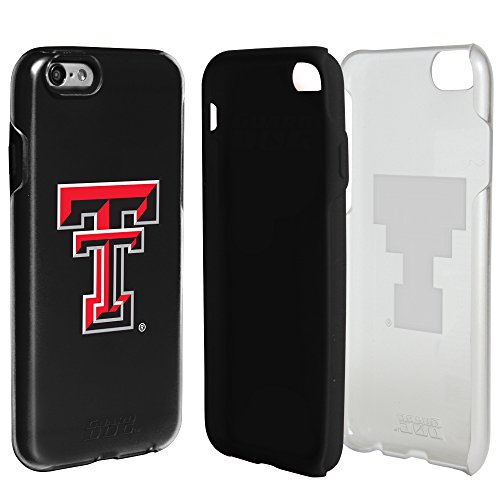 Tech Texas Red Bumper Raiders - Texas Tech Red Raiders Clear Hybrid Case for iPhone 6 / 6s with Black Insert and Guard Glass Screen Protector