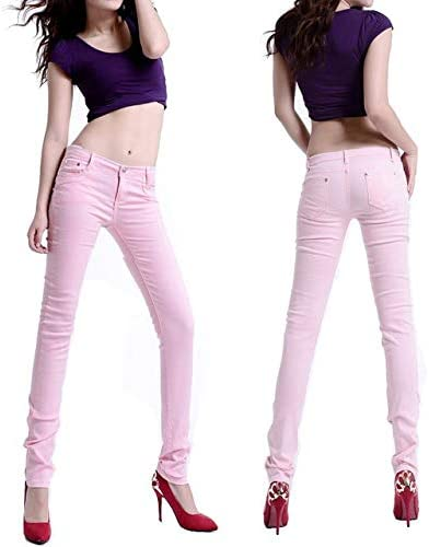 KXDNZK ZKKXDN Stretch Pantalones Pitillo de Cintura Alta para ...