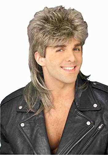 Forum 70's Disco Mullet Wig, Blonde, One