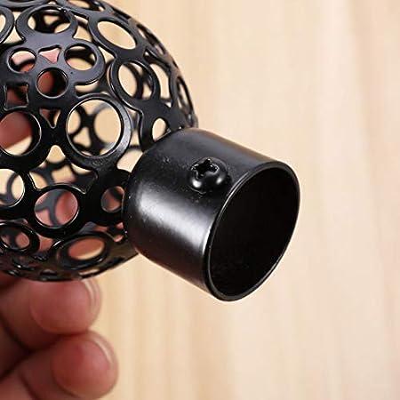 Vosarea negro negro Talla:22MM negro 1 par de extremos de barra de cortina de aleaci/ón de aluminio para ventana de cortina y barra de cortina de 22 mm