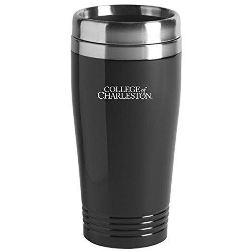 (College of Charleston - 16-ounce Travel Mug Tumbler - Black)