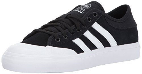 adidas Boys' Matchcourt J Skate Shoe, Black/White/Black, 4 Medium US Big Kid