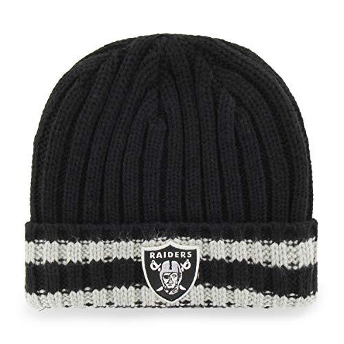 NFL Oakland Raiders Bure OTS Cuff Knit Cap, Black, One Size