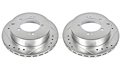 Power Stop JBR584XPR Rear Evolution Drilled & Slotted Rotor Pair
