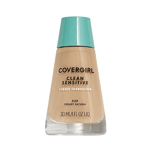 COVERGIRL, Clean Sensitive Skin Foundation, Creamy Natural, 1 Count (packaging may vary) (Best Natural Foundation For Sensitive Skin)