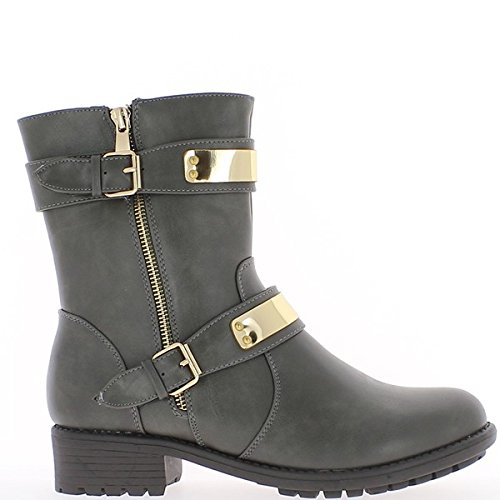 Botines zapatos de las mujeres negras se duplicaron a tacón de 3cm