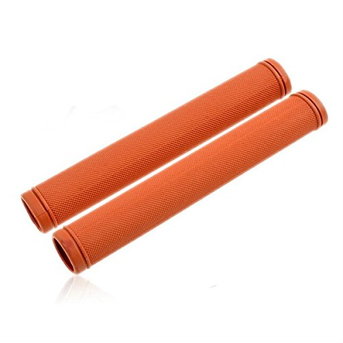Kenthia Bicycle Handlebar Grips Fixed Gear Bike Anti-slip Rubber Handle Cover Brown by Kenthia