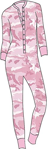 Women's Pink Camo Union Suit (2X)