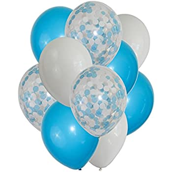 FindFun 12u0027u0027 Blue Confetti Balloons Set For Boy Baby Shower Party  Decoration (Pack
