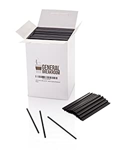 "2000-count, 5 1/2"" Coffee and Cocktail Drink Stirrer Straws By General Breakroom"