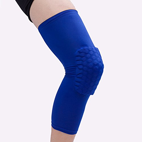 All-nice Compression Sleeve Knee Brace Pad - Breathable Anticollision PRO Honeycomb Knee Support for Basketball Football Volleyball Baseball Softball Cycling Running Tennis
