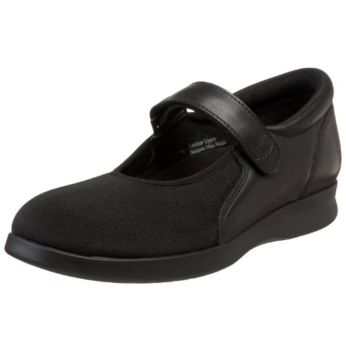 Drew Shoe Women's Bloom II Mary Jane,Black Leather/Stretch,10 2E US (Drew Leather Mary Janes)