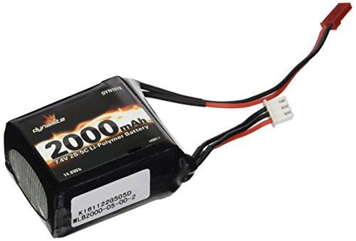 Dynamite 7.4V 2000mAh 2S 5C LiPo Receiver Pack: 1/8 (Lipo Receiver Battery)