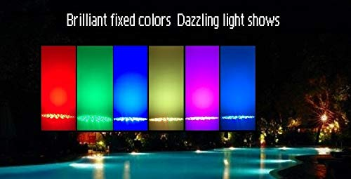 Color-changing LED Pool Light 120V 40Watt Replacement For Incandescent Bulbs in Pool Light, Color Memory, 16 light shows, Switch Control (120V,40Watt) by TOVEENEN (Image #7)
