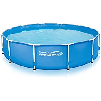 Amazon.com : SUMMER WAVES 12\'x30 Metal Frame Pool with Skimmer Plus ...