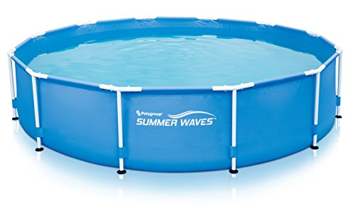 Summer Waves P2001030A156 Metal Frame Pool with Filter Kit, 10'