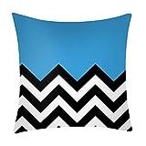 Pgojuni_Pillowcases Dark Color Printing Pillow Case Polyester Sofa Car Cushion Cover Home Decor Cover Pillow Case1pc (45cm X 45cm) (B)