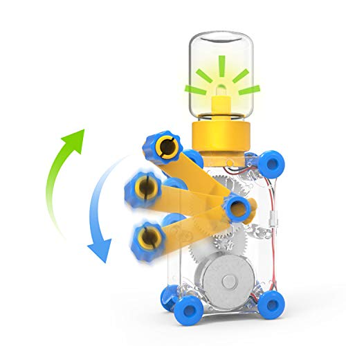 WONO Childrens Physics Education Toys, Hand Crank Generators, Bulb Science Experimental Toys. DIY Toy Science Kit