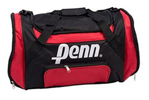 Penn Color Negro de color rojo Bolsa de viaje bolsa de deporte deportivo Fitness Mujer Hombre Niños Fútbol Deporte Tiempo Libre FA. bowatex
