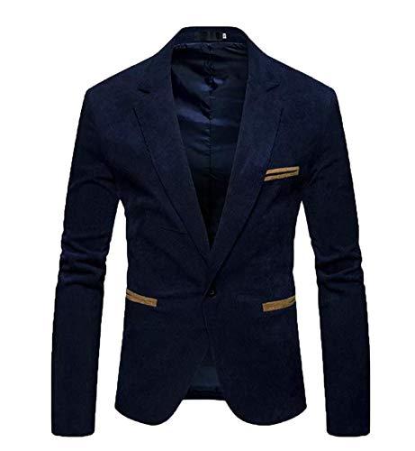 51063be8032 creative concepts Men s Cotton Slim Fit Party Wear Blazer Suede (Blue