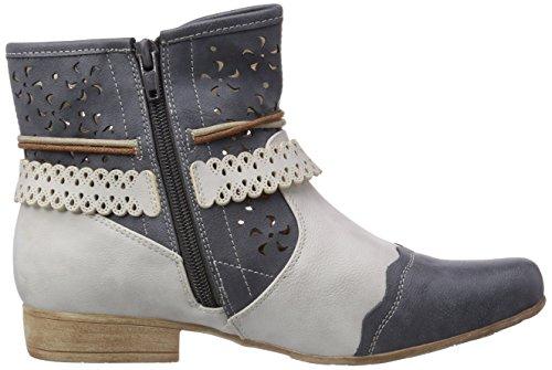 97055 Blau Jeans Stiefel Ice 14 Damen Halbschaft Rieker 7d4ggq