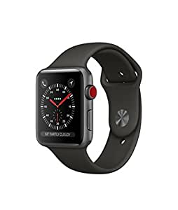 Apple Watch Series 3 42mm Space Gray Aluminum Gray Sport Band