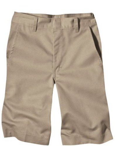 Dickies Boys' Husky Classic Fit 8-20 Flat Front Short - School Uniform, Khaki, 16