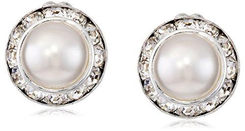 Silver Crystal Rhinestone Rondelle Earrings product image